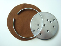 Bottom cover ,ring  and  felt for candlestick and round base phones