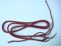Rattlesnake Red / Black receiver cord Pin/ Spade with ties
