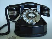 Automatic Electric AE34   Art Deco antique telephone Nickel Plated Trim