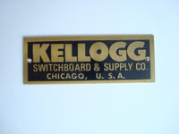 Kellogg Brass name plate