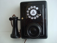 Original Antique working 1920 Western Electric wall telephone 653 A candlestick