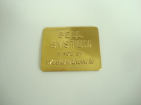 Payphone Bell Western Electric 3 slot pay phone brass nameplate