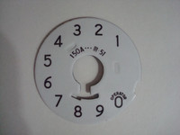 Western Electric #4and #5 dial plate. Numbers  vinyl overlay.