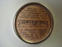 STOWGER dial center in Chrome