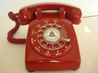 Western Electric 500 telephone   Red