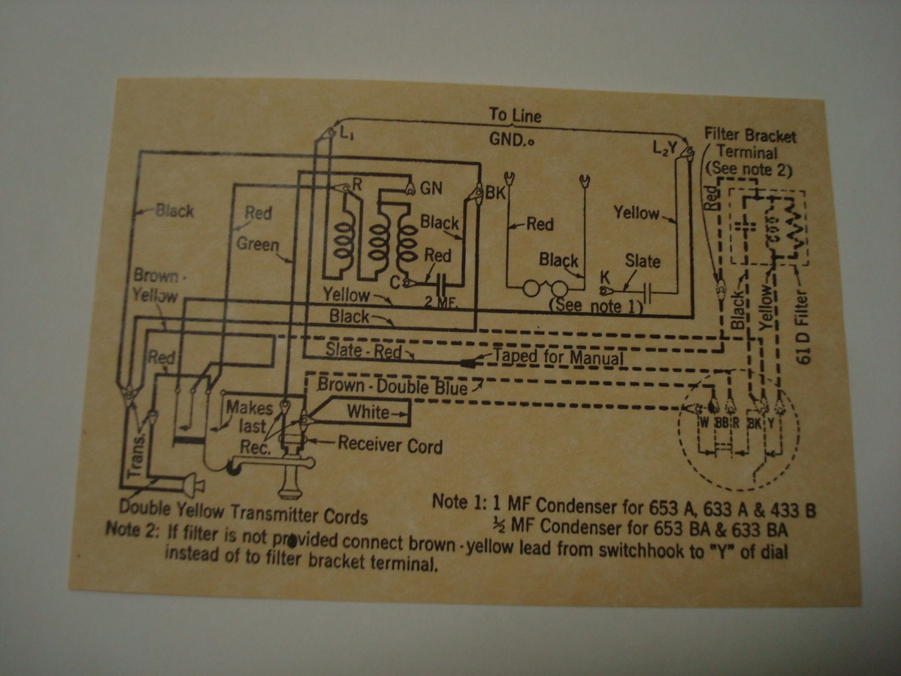 653 Metal    wall    phone    diagram    glue on  Old Phone Shop Store