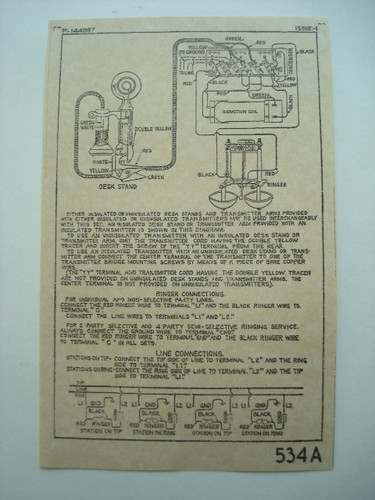 534__60781.1409715628.500.500?c=2 western electric 534 sidetone subset for candlestick telephones western electric 634a wiring diagram at edmiracle.co