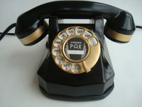 Automatic Electric Monophone AE40 telephone 24KT GOLD Art Deco