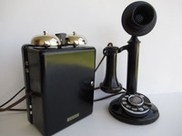 Western Electric dial candlestick telephone  51AL 334Asubset ringer