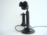 Western Electric candlestick telephone 40AL   Original Working  phone