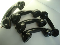 Western Electric F1 bakelite  telephone  handsets    5  Lot