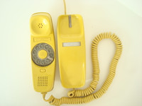 Yellow Rotary Trimline telephone Western Electric Original