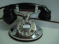 202 Chrome telephone   Beautiful working antique