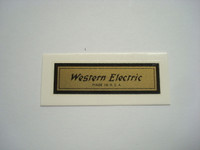 Western Electric Water Decal Lot of 10
