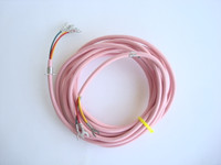 Pink  round line cord for Western Electric and Automatic Electric Princess and 500 series telephones NOS