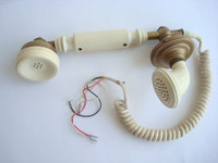 French  telephone Ivory  handset and cord Ivory Western Electric princess phone
