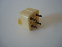 4 prong plug telephone jack  Ivory  Original