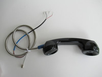 Payphone handset with armored cord