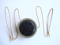 Candlestick telephone and wood wall phone transmitter element