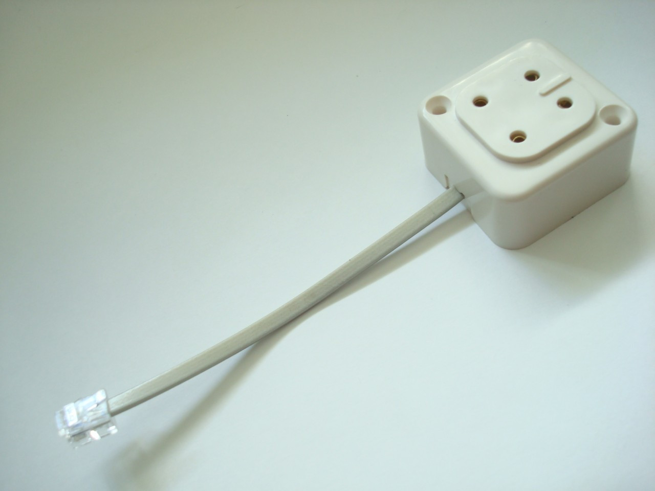 4    prong    jack to modular adapter for antique telephones