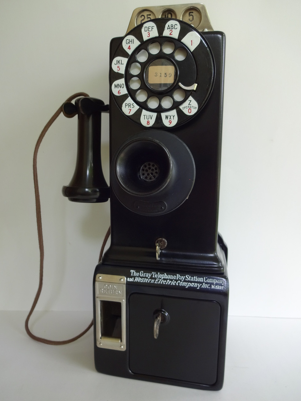 Gray Western 50g Payphone Original 3 Slot Payphone From