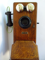 Western Electric Wood Wall phone  Works Fully on todays phone lines