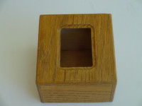 Touch tone dial box in beautiful oak