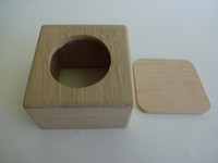 Rotary dial box in beautiful oak