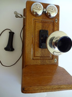 Western Electric Wooden Wall phone Model 317 Working fully on todays lines