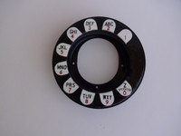 Gray/Western payphone 50G dial ring   and  shroud  with acorn nuts