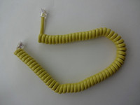 Coiled handset cord Yellow  modular