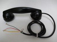 Western Electric 3 Slot Payphone handset + cord Bell Systems 302