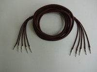 Antique loop antenna   5 conductor brown cloth covered cord Pin /Pin  Antique loop antenna