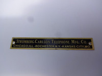 Stromberg Carlson nameplate or badge