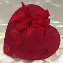 VAL - 1 LB RED SATIN SWIRL HEART