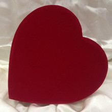 VAL - 1 LB RED VELOUR HEART