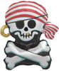 "14"" Jolly Roger Air-Fill  Mylar Foil Balloon"
