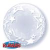 "24"" Deco Bubble Stylish Stars Bubble Balloon"