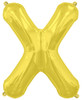 "16""  Gold Letter X Air-Fill  Mylar Foil Balloon"