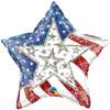 "20"" Dazzling Stars & Stripes Mylar Foil Balloon"