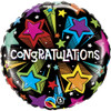 "18"" Congratulations Shooting Stars Mylar Foil Balloon"