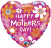 "18"" Mother's Day Contemporary Daisies Mylar Foil Balloon"