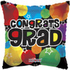 "18"" Congrats Grad Retro Mylar Foil Balloon"