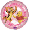 "17"" Pooh It's A Girl Mylar Foil Balloon"