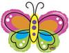 "28"" Mighty Beautiful Butterfly Non-Foil Shape Mylar Foil Balloon"