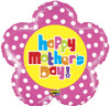 """30"""" Mighty Mother's Day Flower Non-Foil Shape Mylar Foil Balloon"""