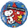 "18"" Peanuts Congratulations Mylar Foil Balloon"