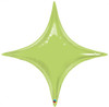 "20"" Lime Green Starpoint Mylar Foil Balloon"