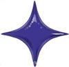 """40"""" Purple Starpoint Mylar Foil Balloon"""