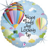 "18"" Hope Things Are Looking Up Mylar Foil Balloon"